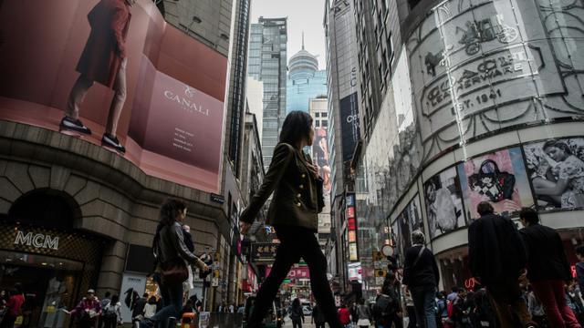Une rue du quartier d'affaires de Hong Kong, le 25 février 2015 [Philippe Lopez / AFP/Archives]