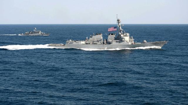 Photo d'un navire de guerre américain fournie le 12 mars 2015 par la Marine américaine [MC1 Martin Wright / US NAVY/AFP/Archives]
