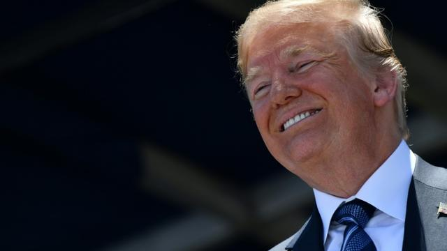 Le président américain Donald Trump, le 25 mai 2018 à Annapolis, dans le Maryland [Nicholas Kamm / AFP]