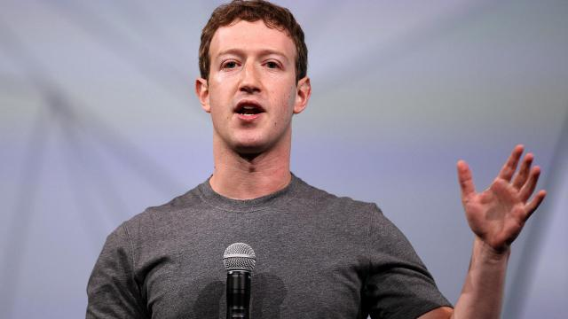 Mark Zuckerberg, patron de Facebook, le 30 avril 2014 [Justin Sullivan / Getty/AFP/Archives]