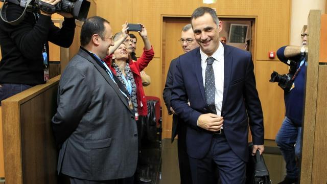 Le dirigeant nationaliste Gilles Simeoni, le 17 décembre 2015 l'Assemblée de Corse, à Ajaccio  [Pascal Pochard Casabianca / AFP]
