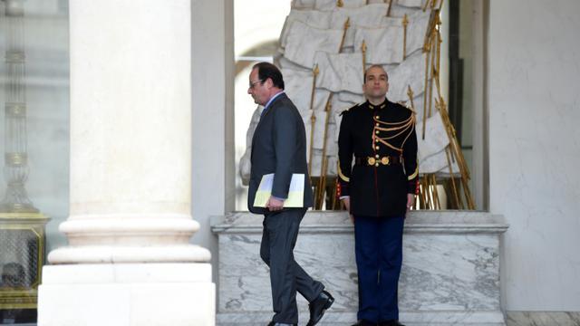 Le président François Hollande à l'issue du conseil des ministres le 16 décembre 2015 à l'Elysée à Paris  [STEPHANE DE SAKUTIN / AFP]