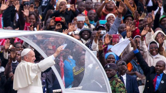 Le pape François à Nairobi, le 26 novembre 2015 [Georgina Goodwin / AFP]