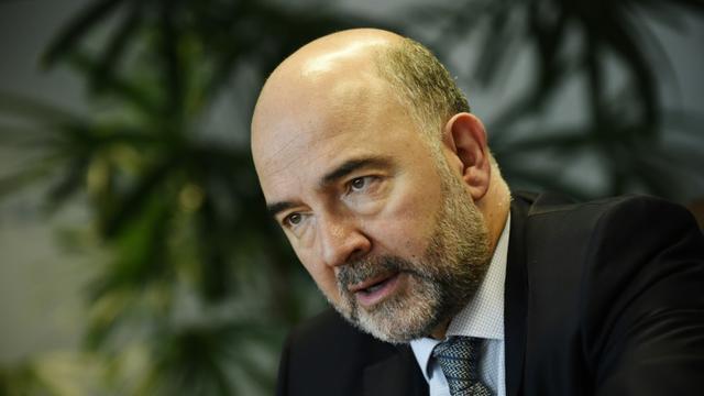 Le commissaire européen aux Affaires économiques, Pierre Moscovici au siège de l'UE à Bruxelles, le 29 octobre 2015 [John Thys / AFP]