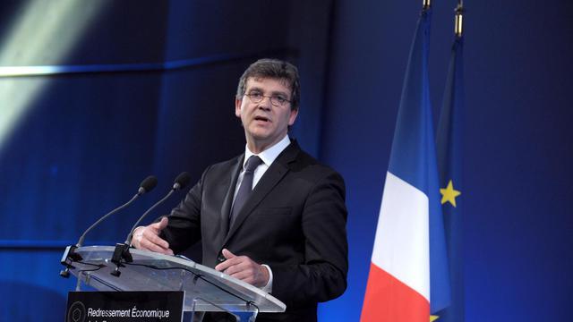 Le ministre français de l'Economie Arnaud Montebourg le 10 juillet 2014 à Paris présentant son plan de redressement économique [Eric Piermont / AFP/Archives]