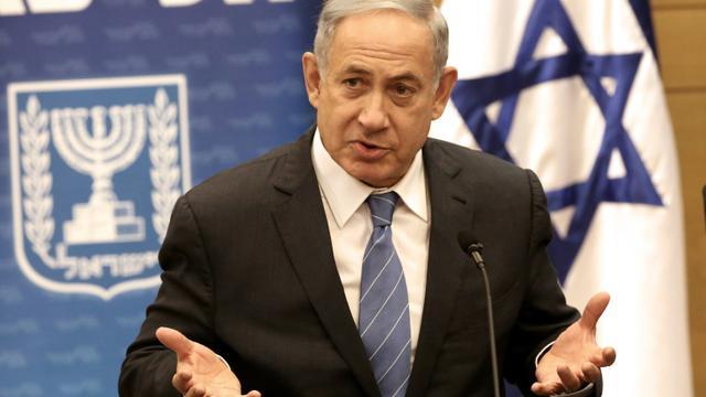 Le Premier ministre israélien Benjamin Netanyahou lors d'un discours à la Knesset, le 23 mai 2016 [MENAHEM KAHANA / AFP/Archives]