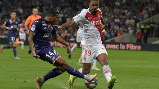 Le défenseur de Monaco Benjamin Henrichs lors du match à Toulouse le 15 septembre 2018 [PASCAL PAVANI / AFP]