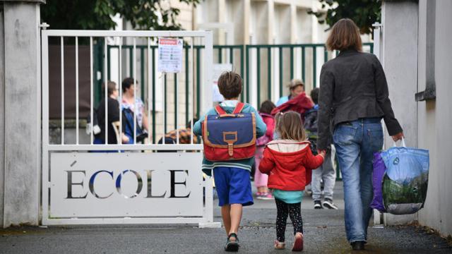 Rentrée des classes à La Rochelle, le 4 septembre 2017 [XAVIER LEOTY / AFP/Archives]