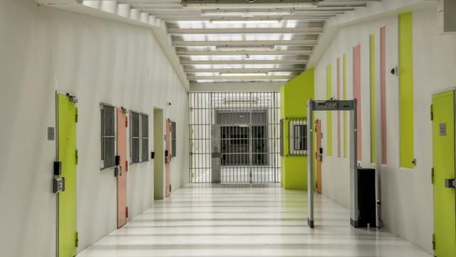 Un quartier de haute sécurité de la prison de Vendin-le-Vieil, le 4 mai 2018 [PHILIPPE HUGUEN / AFP/Archives]