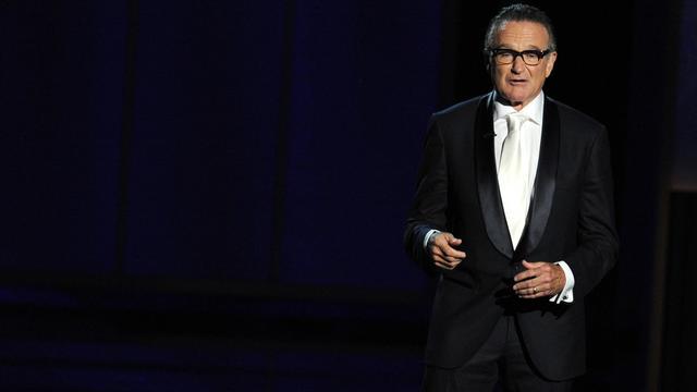 L'acteur américain Robin Williams lors de la cérémonie des Emmy Awards, le 22 septembre 2013 à Los Angeles [Kevin Winter / Getty/AFP/Archives]