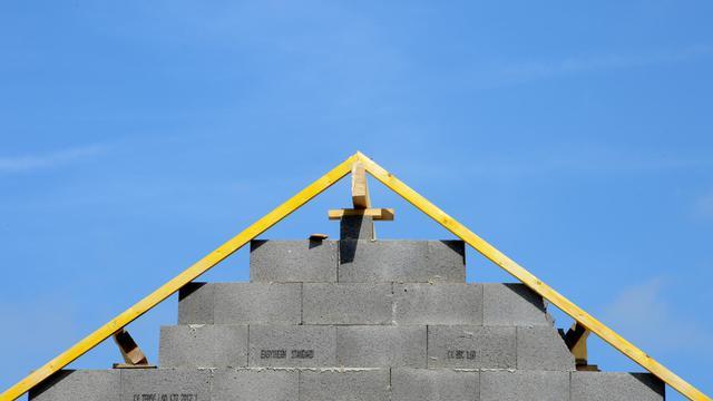 Une maison en construction en Bretagne [Damien Meyer / AFP/Archives]