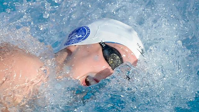 Katie Ledecky en finale du 200 m nage libre des Championnats des Etats-Unis le 7 août 2014 à Irvine en Californie [Harry How / GETTY IMAGES NORTH AMERICA/AFP]