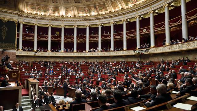 Vue d'ensemble de l'Assemblée nationale, lors d'une séance de questions au gouvernement, le 10 février 2015 à Paris [ERIC FEFERBERG / AFP/Archives]