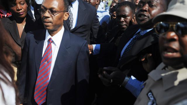 Le président haïtien Jean Bertrand Aristide à Port-au-Prince le 18 mars 2011 [Thony Belizaire / AFP/Archives]