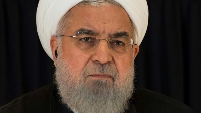 Le président iranien Hassan Rohani lors d'une conférence de presse en marge de l'Assemblée générale des Nations unies, le 26 septembre 2018 à New York [Jim WATSON / AFP/Archives]