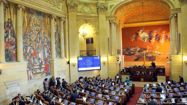 La Chambre des Représentants de Colombie, le 30 novembre 2016 à Bogota [GUILLERMO LEGARIA / AFP]