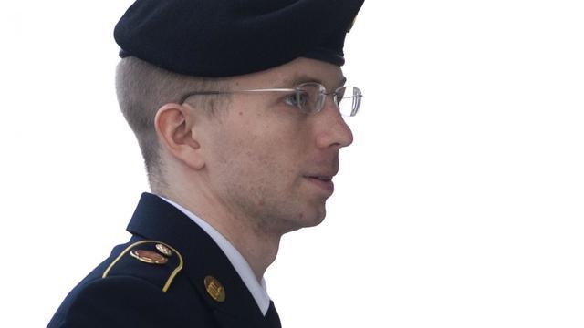 Le soldat américain Manning à la cour martiale le 21 août 2013 lors de son procès à Fort Meade dans le Maryland [Saul Loeb / AFP/Archives]