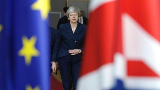 La Première ministre britannique Theresa May le 21 mars 2019 à Bruxelles [Aris Oikonomou / AFP/Archives]