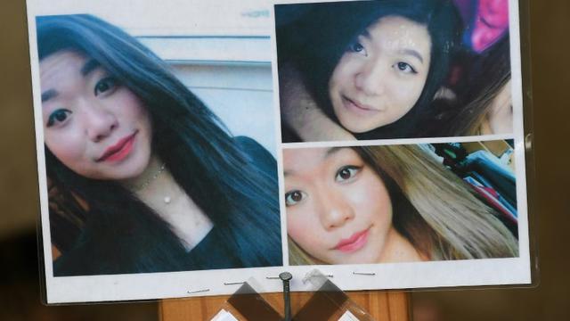 Photo prise le 20 septembre 2018 montrant des messages et des portraits de l'étudiante Sophie Le Tan disparue le 7 septembre près de Strasbourg [FREDERICK FLORIN / AFP]
