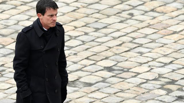 Le Premier ministre, Manuel Valls, le 27 novembre 2015 lors de l'hommage national aux victimes des attentats de Paris [MIGUEL MEDINA / AFP]