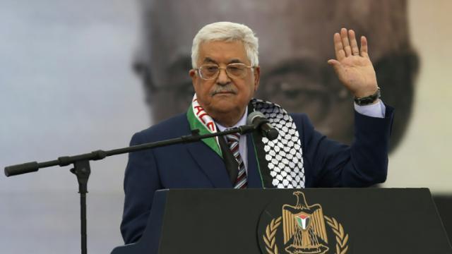 Le leader palestinien Mahmoud Abbas, le 10 novembre 2016 à Ramallah [ABBAS MOMANI / AFP/Archives]