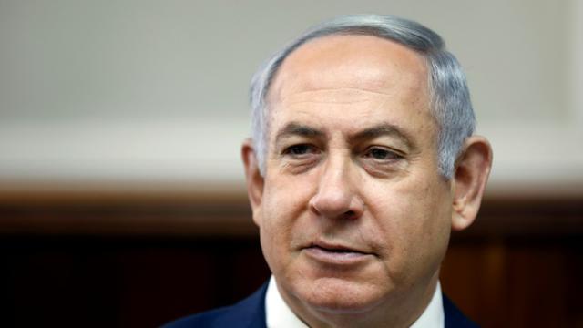 Le Premier ministre israélien Benjamin Netanyahu à Jérusalem, le 11 février 2018  [RONEN ZVULUN / POOL/AFP]