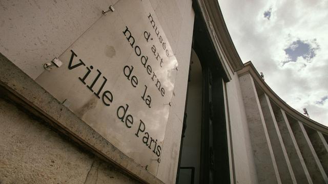 Vue en date du 28 avril 2002 de l'entrée du Musée d'Art Moderne de Paris [JEAN-PIERRE MULLER / AFP/Archives]