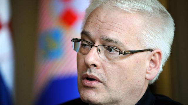 le président croate Ivo Josipovic lors d'un entretien avec l'AFP, le 18 juin 2013 à Zagreb [- / AFP]