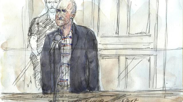 L'agresseur présumé de Nathalie Kosciusko-Morizet, Vincent Debraize, 55 ans, maire de Champignolles (Eure), le 19 juin 2017 lors de son procès à Paris [Benoit PEYRUCQ / AFP]