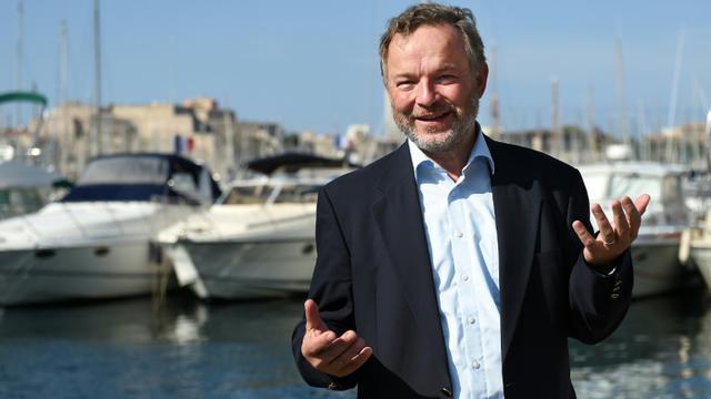 Le marin allemand Klaus Vogel sur le Vieux-Port à Marseille, le 12 septembre 2015 [Anne-Christine Poujoulat / AFP]