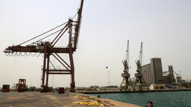 Le port d'Hodeida, au Yémen, le 24 juin 2018 [ABDO HYDER / AFP/Archives]