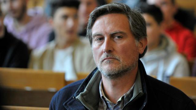 L'ancien sous-préfet de Brioude (Haute-Loire) Hugues Malecki, au tribunal correctionnel du Puy-en-Velay le 20 mars 2018 [Thierry Zoccolan / AFP]