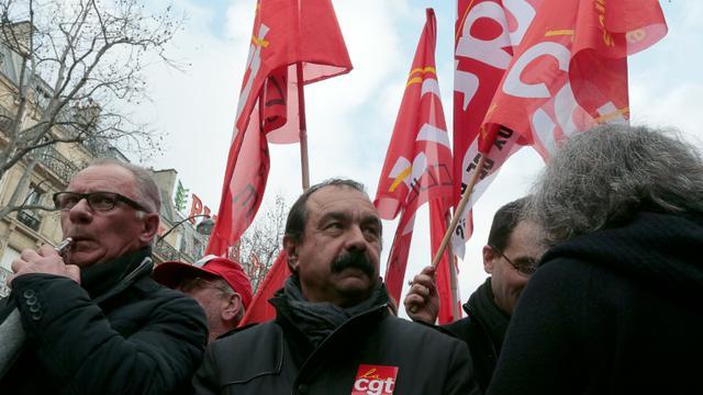 Le secrétaire général de la CGT Philippe Martinez lors d'une manifestation le 26 janvier 2016 à Paris [JACQUES DEMARTHON / AFP/Archives]