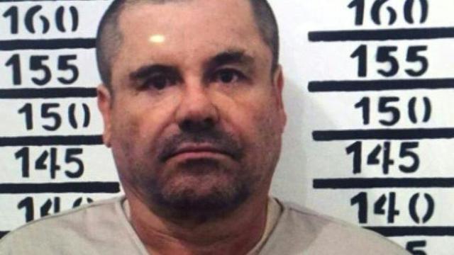 """Photo de Joaquin Archivaldo Guzman Loera, alias """"El Chapo"""", prise le 8 janvier 2016 après sa capture, à la suite de son évasion d'une prison mexicaine en juillet 2015 [HO / HO/AFP/Archives]"""