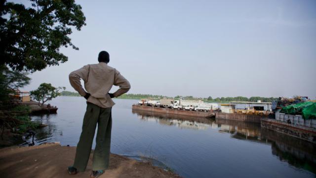 Un bras du Nil au port de Juba,  au Soudan du Sud, le 28 février 2012 [Adriane Ohanesian / AFP/Archives]