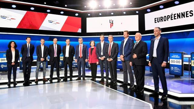 Les têtes de listes invitées à débattre sur France 2 le 4 avril 2019 [Bertrand GUAY / AFP/Archives]