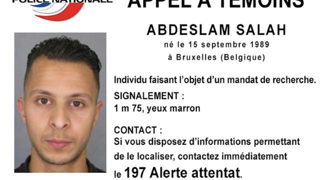 L'appel à témoins diffusé par la police française le 15 novembre 2015 pour retrouver Salah Abeslam [DSK / POLICE NATIONALE/AFP/Archives]