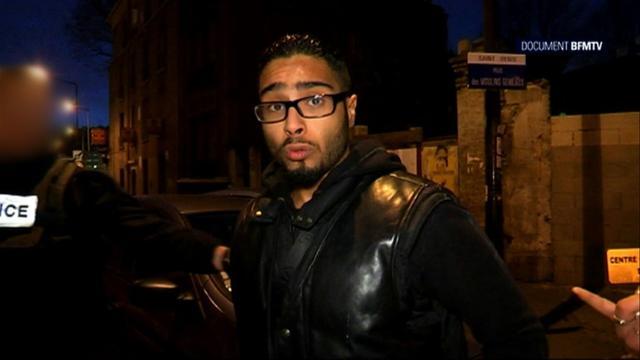 Une capture d'écran montre Jawad Bendaoud à Saint-Denis le 18 novembre 2015 [ / BFMTV/AFP/Archives]