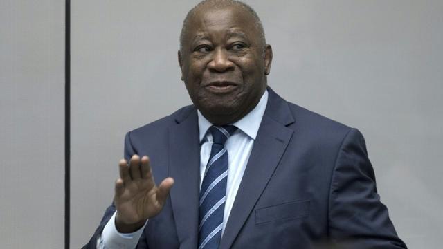 L'ancien président ivoirien Gbagbo à la Cour pénale internationale (CPI) le 15 janvier 2019 à La Haye [Peter Dejong / ANP/AFP]