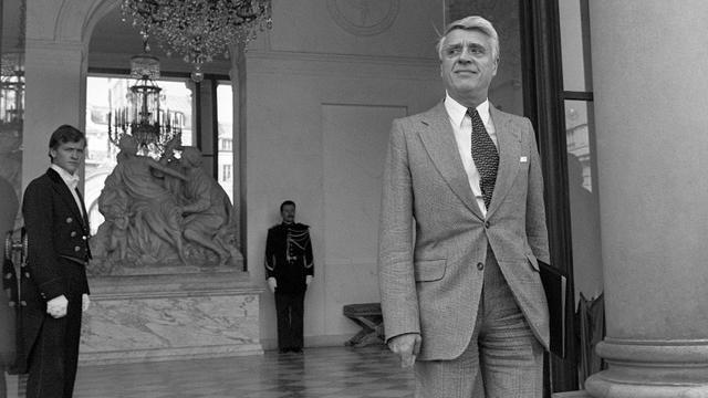 Le ministre du Travail Robert Boulin sort du Palais de l'Elysée, le 26 septembre 1979. [Marcel Binh / AFP/Archives]
