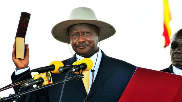 Le président ougandais Yoweri Museveni, le 12 mai 2011 à Kampala [Peter Busomoke / AFP/Archives]