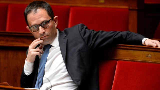 Le député socialiste Benoit Hamon à l'Assemblée nationale le 4 mai 2016 [BERTRAND GUAY / AFP/Archives]