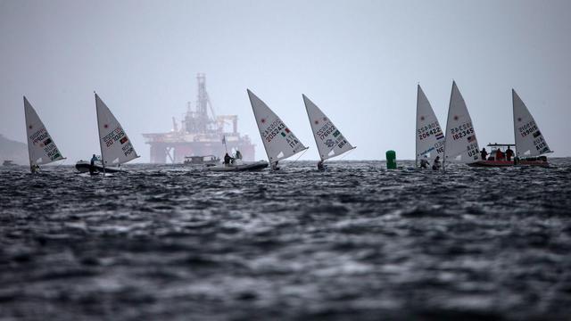 Les régates préolympiques dans la baie de Rio le 9 août 2014  [Yasuyoshi Chiba / AFP]