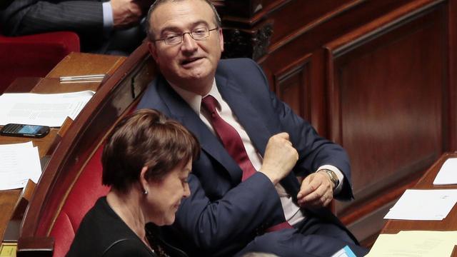Le député UMP Hervé Mariton, le 16 avril 2014 à l'Assemblée nationale à Paris [Jacques Demarthon / AFP/Archives]