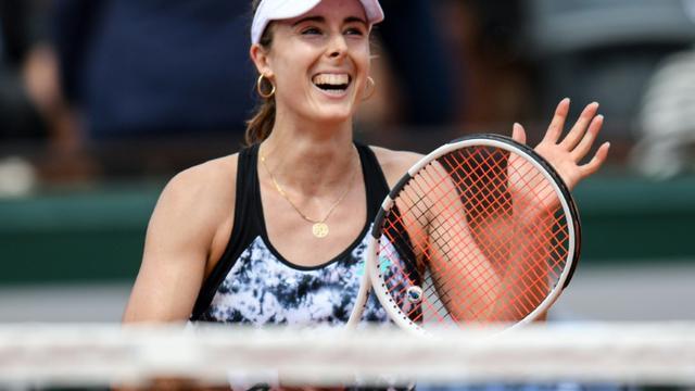 La Française Alizé Cornet à Roland-Garros, le 27 mai 2018, après avoir remporté son match face à l'Italienne Sara Errani [CHRISTOPHE ARCHAMBAULT  / AFP/Archives]