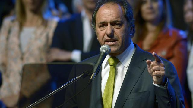 Le gouverneur de la province de Buenos Aires, Daniel Scioli, le 24 octobre 2013 dans la capitale argentine [Juan Mabromata / AFP/Archives]