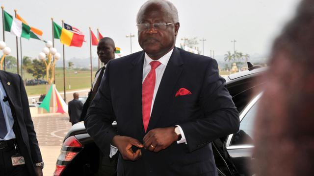Le président de la Sierra-Leone, Ernest Bai Koroma, le 28 mars 2014 à Yamoussoukro (Côte d'Ivoire) [Issouf Sanogo / AFP/Archives]