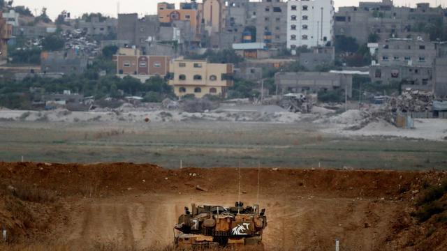 Un char israélien le long de la frontière avec la Bande de Gaza, le 20 juillet 2018 [JACK GUEZ / AFP]