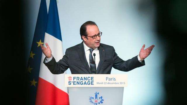 François Hollande à l'Elysée, à Paris, le 22 décembre 2015 [ETIENNE LAURENT / POOL/AFP/Archives]