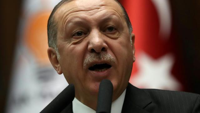 Le président turc Recep Tayyip Erdogan le 9 janvier 2018 à Ankara [ADEM ALTAN / AFP/Archives]